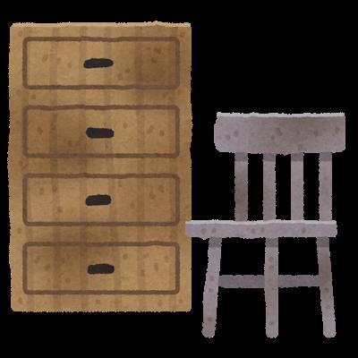 古くなった家具
