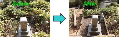 お墓の草刈り・伐採
